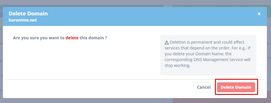 Delete Domain 3